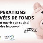 Photo présentant l'opérations de levées de fonds Amiens cluster HDFID - Tirelire cochon