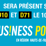 Bandeau de présentation pour la présence d'Amiens cluster sur le salon business power de Lille